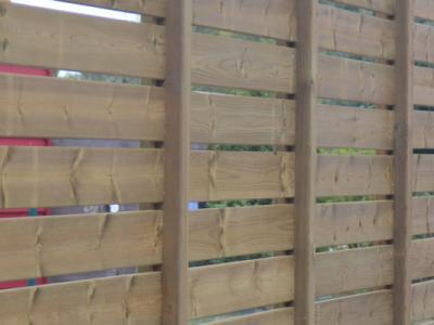 Aménagement extérieur - claustras en bois