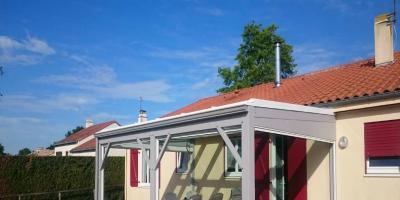 auvent vitré structure bois