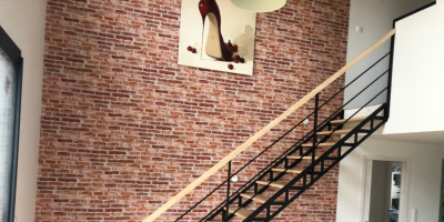 Escalier mixte bois et métal
