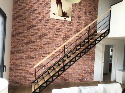Escalier droit mixte
